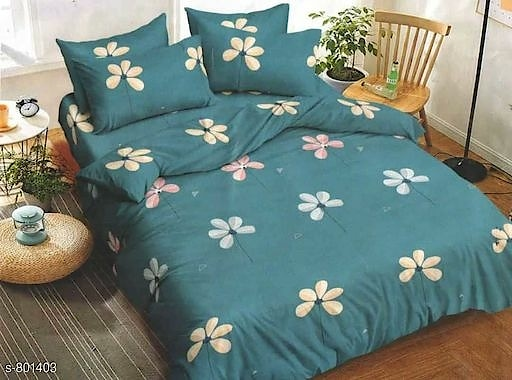 Imperial Double Bedsheets Vol 19 Fabric: Bedsheet - Cotton, Pillow Cover - Cotton  Size ( L X W ): Bedsheet - 100 in x 90 in , Pillow Cover - 17 in x 27 in  Description: It Has 1 Piece Of Double Bedsheet & 2 Pieces Of Pillow Covers   Work: Printed  Thread Count: 160  Dispatch: 2 - 3 Days