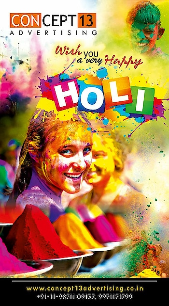 Wish you all veryyyy HAPPY #Holi ... may these colors makes your life more colorful !!!  #best #advertising #agency #delhi #concept13 #wishes #holi