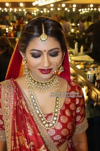 Khushboo ❤ Intense matt brown smokey eyes  with some matt black & deep red lips !! Faces lip crayon in Midnight rose for her lips @facesindia  Chandni Singh studio, E 16, Upper ground floor, Hauzkhas, New Delhi 110016 ☎️01141666441/42 www.chandnisingh.com✔ ------------------------------------------------------------------------ ➡️Snapchat - chandni.singh ➡️Youtube - Chandni Singh studio ----------------------------------------------------------------------- #makeup #mua #makeupartist #makeupartistindia #bride #bridal #indianbridal #indianbridalmakeup #bridesofindia #csbride #chandnisinghbride #chandnisingh #chandnisinghstudio #makeupstudio #makeupschool