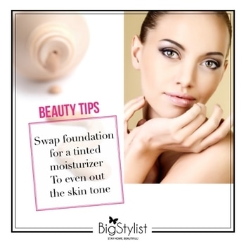 Makeup tip #8 for the Summer season - Keep it light with a tinted moisturiser! Like this? Say a Hi on WhatsApp at 9920465699 for more such fantastic stuff! #makeuptips #beautytips #Summer #Summerbeauty #foundation #moisturiser  #makeup #beauty #look #stayhomebeautiful #bigstylist