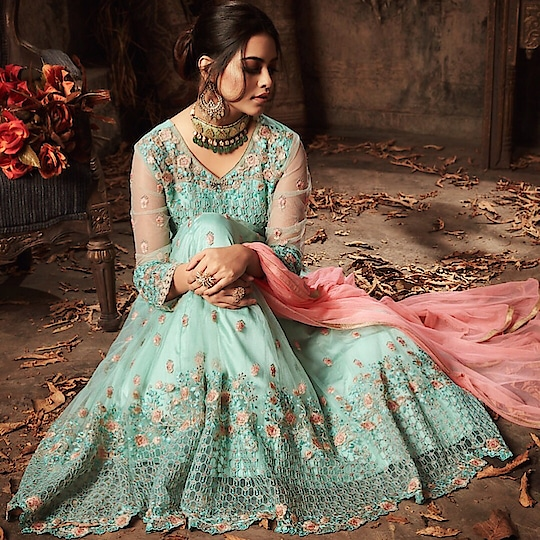 Sky Blue Net Satin Party Wear Anarkali Suit  Product code - FCSS1728 Available at www.fashionclozet.com  Watsapp - +91 9930777376 Email -  info@fashionclozet.com Or DM for enquiries. #indianwear #indianfashion #indianwedding #instagram #adorable #beautiful #bollywood #makeup #mumbai #indianstyle #palazzo #punjabisuits #indowestern #bridalsarees #palazzopants #designerwear #saree #punjabiweddings  ##palazzoskirt #blogger #fashionblogger #weddingphotography #vancouverwedding #weddingphotographer #indianweddingbuzz #bridallehengas  #bridesmaids  #saree #gharara