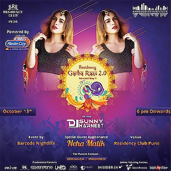 Few more promotional poster for Garba Raas at Residency club Pune , See you all there in just 2days 💃💃 13th oct ♥️ grab your passes now  : Event is managed by BARCODE NIGHTLIFE 💕💕 @barcodenightlife  : #garba #garbaevent #garbaraas #dandiya #dandiyanight #pune #barcodenightlife #dandiyaevent #residencyclub #residencyclubpune #navratricelebration #navratri2018 #indianblogger #indianfestival #ritual #indiangirl #indianbeauty #indian #celebrationtime #nehamalik #model #actor #blogger #instagood #diva #instafollow #instalike #instafollow