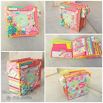 #best friend forever ALBUM #MINI  album #colourful #floral #THEME#cute#THEME for more details whatsapp 09819491504#handmadecreativesbyektabathla#ordernow😍😍 BOOK YOUR ORDER NOW ❤️ #roposo #ropososhop #thebazaar #online-shopping #buy #now