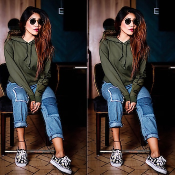 """•BEAUTY , TO ME , IS ABOUT BEING COMFORTABLE IN YOUR OWN SKIN THAT , OR A KICK - olive & LIPSTICK . """" ❤️. Hoodie - @envagorstore  Shoes : @vans_india . Jeans : @sheinofficial  #angelmstyle . . Pc : @through___the___lenss  Location: @decoderajouri  www.angelmstyle.com #sdmdaily #styledotme #popxoblogger #popxoblognetwork #meena #delhifashionblogger #delhibeautyblogger #delhitravelblogger #delhilifestyleblogger #fashionblogger #beautyblogger #travelblogger #instagram #lookbook #delhigram #delhigirl #whatiwore #indianfashionblog #photooftheday #babesofinstagram #springfashion #wiw #ootdsubmit"""