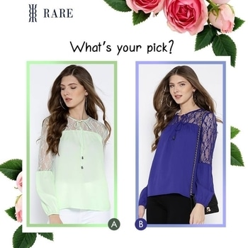 Which one of the two pretty #colors do you like? Share this post and get a chance to win your #pick! So, is it A or B? ;)  If you wish to shop your favourites, click here http://bit.ly/2pWqdBi  #pickone #top #ropo-style #pickyourfavorite #soroposo #soroposostylefiles #soroposofashion #roposocolors
