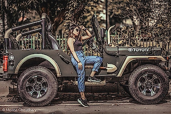 I Never thought using Jeep for Photo shoot '' Well anything can be used , You just gotta Creative like me 🙈.  @toyota.india . . . . • Crop top : @zaraindiaofficial @zara . • Denim : @shein_in @sheinofficial . • Shoes : @yohjiyamamotoofficial . . . . . . . #jeep #jeepride #toyota #toyotaindia #angelmstyle #femalerider #indianblogger #delhiblogger #fashioninfluencer #lifestyleblogger #delhibeautyblogger #indianfitnessblogger #femalefitness #productreviewer #garden #greenlife #zaraindia #sheinindia #youtuber #spreadlove #socialmediainfluencer  www.angelmstyle.com