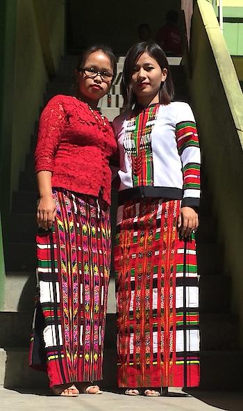 Puanchei #mizo #traditional #dress #mizopuan  #with a #friend