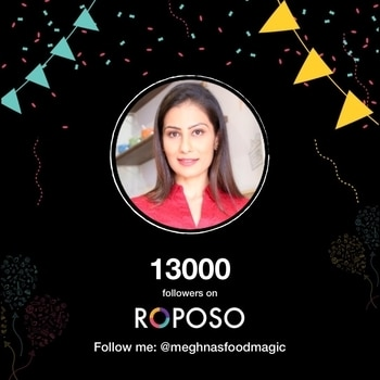 Friday we crossed 13,000 on @roposotalks @roposobusiness .. now why am i happy instead of being scared 😀💋💋💋 Love M. #chefmeghna