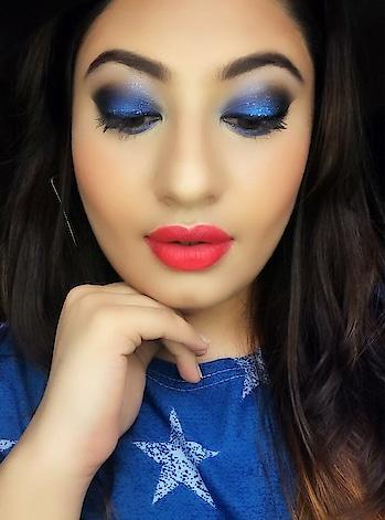 Blue smokey eyes 💙 Moisturiser- Cheryl's  Base- @maybelline Fit Me  Concealer- @kryolanofficial  Powder- @maccosmetics  Eyes- @makeuprevolution & @faces Mascara- @lorealmakeup  Eyebrows- @miss_claire_makeup  Eyeliner- @maybelline  Contour & highlight- @freedom_makeup & @kryolanofficial  Blush- @makeuprevolution  Lips- @proarteworld (lip liner) @maybelline (lipstick)  Fixing Spray- @nyxcosmetics_in  #makeup #makeupartist #makeuplook #maybelline #proarte #loreal #faces #maccosmetics #kryolan  #missclaire #makeuplover #wakeupandmakeup #makeupartistsworldwide #instamakeup #makeupgeek #artistsoninstagram #beautygram #makeuponpoint 💄