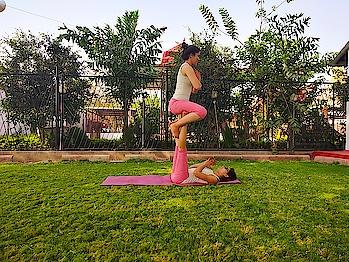 """Believe you can and your halfway there.""And it is the best thing I learn from yoga♥️ Acro yoga beginners pose with @shivangisharmayoga🤗  #acrofunyoga #acroyoga #acrobatics #acrofun #saturdaypractice #yogafun #beginneryoga #yoga #yogamyway #yogamylove #yogalover #yogainnature #yogapassion #yogapose #yogapractice #yogaddict #yogqeverydamnday #yogawithin #yogaworld #yogaeverywhere #yogastudent #yogaspirit #yogasequence #acroyogapractice #acroyogalove #balancing #legstrength #iyogacenter #iyogacommunity"