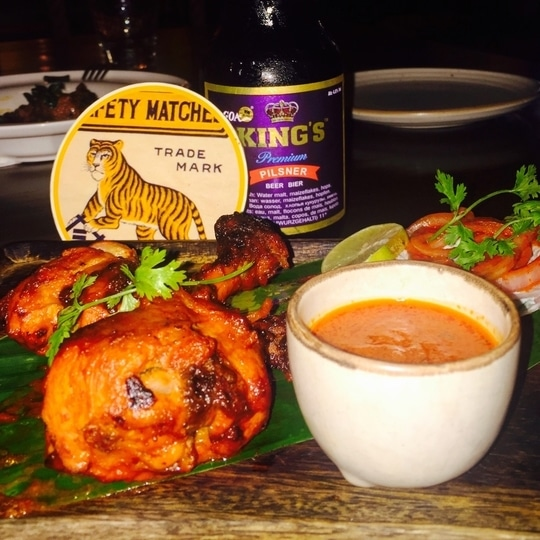 FoodPorn Alert: Talli Chicken - A speciality chicken served in House of Tigers, infused with beer and butter, topped with a rum based sauce. ♥️