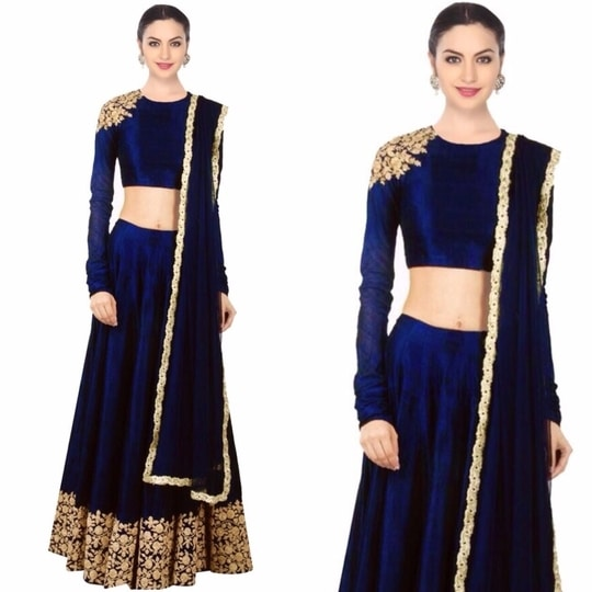 #restocked stylish #lehengacholi Just for ₹@2499/- INR Only 👉🏻fabric - raw silk  For Order DM or WhatsApp us : +91-8866570406