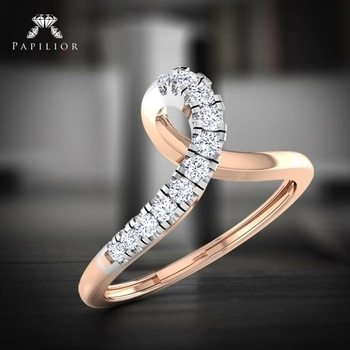 """#Rings say what sometimes words can't.""  #diamondring #goldring #moderndiamondring #papilioring #onlineshopping"