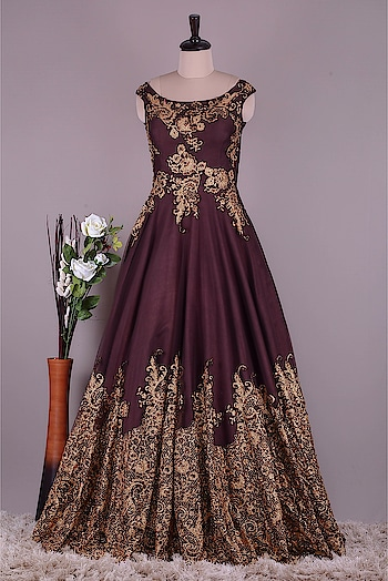 Samyakk Evening Gown #gown #evening-gown #gowndress #gownlove #lovegown #look-gorgeous #loveliness #bloggerbabe #be-fashionable #fashionista designer dresses #browndress #bridesmaids #bridalgown #gorgeousbride #lookgorgeous #charmness #love forever...