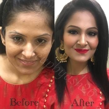 Diwali special MAKEOVER 🎀 🎀 FACE :  #makeupforeverprimer #makeupforevercontourpallete #makeupforever #HDfoundation #benefithighbeam #contour #highlight #translucentpowder #smashboxhighlighter #maybelline  EYES:  #nyxeyeprimer #benefitbrows #hudabeauty #morphepallete #eyeshadowpallete #makeupforeverliner  LIPS:  #makeupforever #lipliner 🎀 🎀 #partymakeup #instalike #likeforlikes #beforeafter #makeover #delhimua #delhimakeupartist #mua #muaindian #makeupbyash26  #diwalimakeup