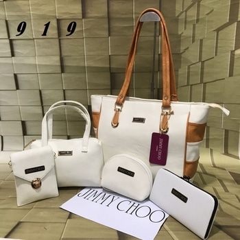 Jimmy Choo HandBags👜  5-piece Set available in 8 different colours.  Contact us for inquiries.  Order before Stock Runs Out. . #handbag #handbags #purse #purses #slingbag #slingbags #sling #tote #totes #totebag #jimmychoo  #jimmychoobag #fivepieceset #5 #5piece #colours #colour #differentcolours #range #newcolours #colourful #colourpop #trending #jimmychoohandbag #brand #brands #brandedstuff #branded #internationalbrand #internationalbrands #bags
