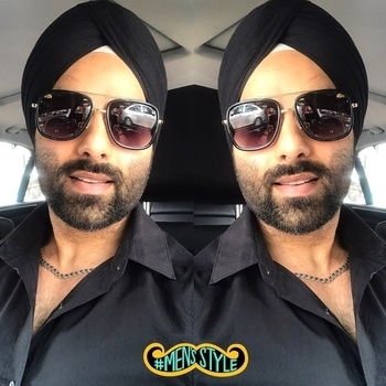 #men-fashion #allblack #shades #lacosteshades #beardlove #singh #turban #soroposo #picoftheday #loveurselfforever #selfie #instafashion #followme #mensstyle