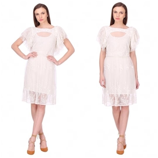 Our statement white lace sundress for this spring season🌸 Everything under 5k! Collection in store! #details #lacedress #lace #summer #summerdress #spring #springfashion #collection #instore #shopnow