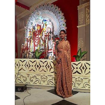 #designer-saree #nari-in-sari #sarilove #sariswag #delhibloggergirl #jewellerylove #jewellryblogger #mylovemylife #happieness #sassychic #sassygirl #swagger #durgapujo #jaimaadurga