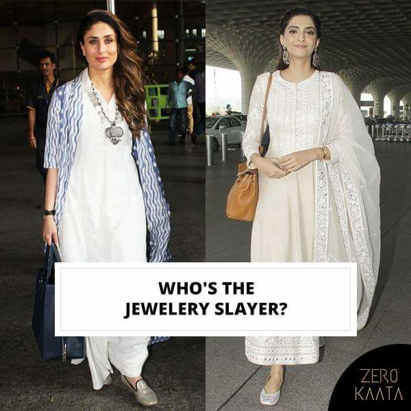 Yay for Kareena or Slay for Sonam, what's your pick?   Tell us in the comments below!  #zk #zerokaata #fashion #style #jewelry #jewelrydesigner #jewelrybloger #jewelryshow #jewelrybrand #jewelrystyle #jewelryofig #jewelryporn #jewelryshop #jewelrylove #jewelryswag #jewelrygoals #jewelryonetsy #jewelrysale #jewelrylovers #jewelrygifts #wedding #Weddingjewelry #earringsfashion #earringslove #earringaddict #bling #jewelrygram