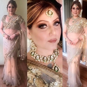 Self makeup and hair for a wedding in Goa #meenakshidutt #meenakshiduttmakeoversdelhi #muaindia #muadelhincr #makeuponfleek #makeupartistindia #beautyandmakeup #hairandmakeup #hairandmakeupstudio #makeupacademy #indianlook #salonowner  #makeup