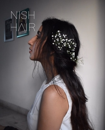 Flowers in my hair, thoughts in my mind.... #nishhair  #hairextensions