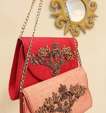 Shop our latest wedding sling bags! #thegoldenthreadlabel #accessories  #slingbag #weddings #weddingbags #indianbag #designer #luxurybag #online-shopping #shopnow