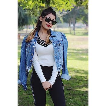 #roposo #trending #fashion #roposo-fashion #thegroovybug #shikha #denim #styling #streetstyleblogger