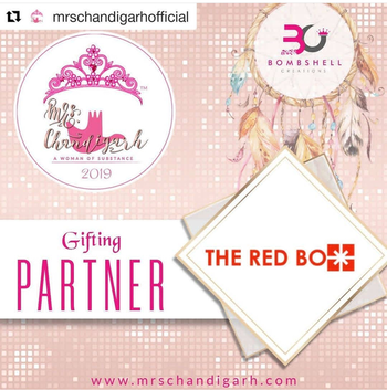 "Delighted to be partners with these gorgeous ladies 💃🎁 #Repost @mrschandigarhofficial ・・・ We at Mrs Chandigarh- A woman of substance, 2019 are Privileged  to announce ""The Red Box""  Jewellery @theredbox_official by @nupsb as our ""Gufting Partner""  #mrschandigarh #onlineregistration #auditions #beautypageant #beautycontest #fashionshow #makeup #makeover #styling #fashionworld #glamour #betheface #faceofchandigarh #tricity #crown #crownwinner #titleholder #womanhood #essenceofwoman #thewowfactor #liveyourdreams #dreams #dreamcometrue #crazysexycool #theredbox #bethechange #rolemodel #awomanofsubstance #instagood"