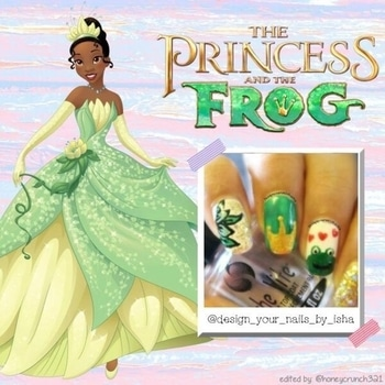👑 Princess and The Frog 🐸   #disneystyle #disneynailart #roposonails #theprincessandthefrognailart #nails #nail #nailart #notd #art #design #nailpolish #beautyblogger #polish #photography #mani #manicure #nailblogger #disney #disneynailart #wordpressblog #youtuber #princessnailart #frognailart #designyournailsbyisha #ishanailart