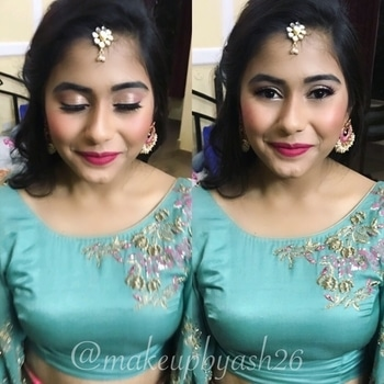 Dolled up beautiful @adiba_26 for her sisters Nikah 🤗 . Makeover by @makeupbyash26 #makeupbyash26 #bridalmakeupartist #mua #partymakeup #delhimakeup #delhimakeupartist #delhimakeupblogger #youtuber #beforeaftermakeup #saganmakeuplook #ringceremony #eyes #browsonfleek #nikah @wedwise @_punjabi_weddings  @wakeupandmakeup @theweddingchamber