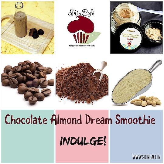 Chocolate Almond Dream Smoothie- Face pack designed for pure indulgence! Shop at: http://www.skincafe.in/Face-Smoothies---Packs/Chocolate-Almond-Dream-Smoothie-Face-Pack---Luxury-Edition-id-2532234.html  #facial #facepack #damagedskin #ageingskin #matureskin #Cocoa #CocoaPowder #arabica #coffee #orangepeel #facesmoothie #natural #wholesome #nochemicalpreservatives #crueltyfreeskincare #crueltyfreebeauty #skincare #skincafe #skintreats #handcrafted #chocolate #indulge #luxury