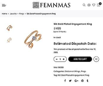 Stone Studded Ring By FemNmas Rs 499/- Shop Now - https://goo.gl/DKCAM3 ———————————— #stonering #stonerings #fashionrings #engagementring #engagementrings #onlinejewellery #onlinejewelleryshopping #indianjewellery