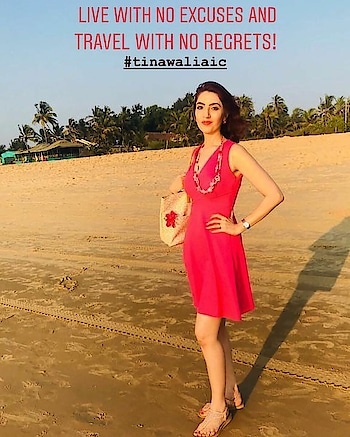 Live with no excuses and Travel with no regrets 😇!                                                                                   . . . #traveldiaries #goa #beachwalk #thoughtofthedays #lifelessons #tinawaliaIC #tipsbytina #goatourism #beachfashion #livelifewithnofashion #ropo-style #ropo-fashion #ropo-look #ropo-fashionblogger #roposo-journey😎