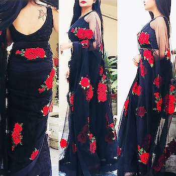 SHOP NOW  Keep it Sexy, Stylish and Sleek in this beautiful black and red saree from Colorauction. This saree promises an elegant appearance and is an ideal pick for a party or family gathering. Pair it with statement earrings and heels to look absolutely stunning.  You can buy this product from our site https://colorauction.com, also explore the site for other exclusive collections and offers.  #sexy #blacksaree #redhot #stylishwomen #slay #glammedup #fashiondaily #ootdfashion #ootd #affordablefashion #shopnow #shopthelook #igers #glamorous #black #vogue #startup #startuplife #shopnow #hurryup #limitedstock #roposo