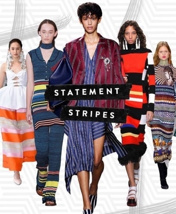 Stripes as a print trend? Hardly groundbreaking! But no one is talking about your run-of-the-mill tops and dresses which are striped. For Spring/Summer '17, one of most important shopping focuses will be for a truckload of high-octane statement stripes. Think bold midi dresses emboldened with block colours or graphic diagonal lines that come in clashing hues on jackets, skirts, tops and accessories. You get the picture. #statementstripes #nauticalstyle #stripestrend #monochroming #patternstolove #graphicdesign #lovestripes #springsummer #2017trend #evergreenfashion #hashtaggameon #assignment4