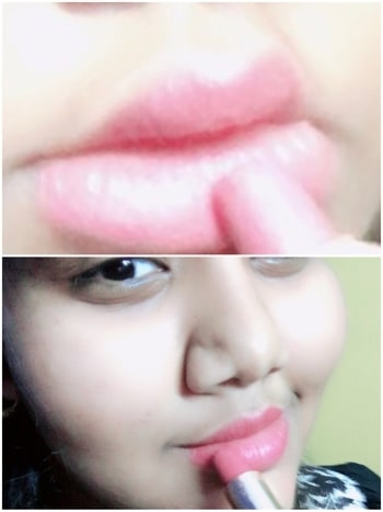 """A right shade of lipstick can transform you the whole my first ever lipstick is from  #L'Oréal paris and I love it . it's is very creamy & give mate finish """"When in doubt wear pink"""" #lipstick"""