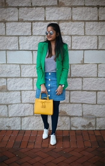 Colors love 💙💚💛 Outfit details:: dreamingloud.com/shop  #ootd #fashionblogger #fashionsta #colorfulootd #colorsplash #colourblock #everydaystyle #classystyle #vintage #vintagestyle #chicfashion #chic #elegant #classy #wiw #whatiwore #soroposo #stylebloggerindia #styleblogger