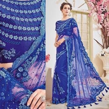 Blue Chiffon Heavy Embroidered Saree Product Code - FCS864 Available at www.fashionclozet.com  Watsapp - +91 9930777376 Email -  info@fashionclozet.com Or DM for enquiries #salwarkameez #golden #designerlehenga #satinsaree #patialasuit #redlehenga #bridalhenna #saree #navratri #navratri2017 #bridalwear #sharara #palazzosuit #bridalheadpiece #bollywood #sarees #bollywoodsaree #dulhan #lehenga #sari #bridallengha #indianfashion #lehenga #drashtidhami #punjabibride #indianbridal #designersaree #punjabiwedding #pakistaniwedding #sikhwedding