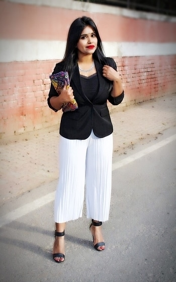 Adding a touch of Indian jewelry with basic formals.  #fashion #fashionblogger #diva #blogger #ootd #lookbook #delhiblogger