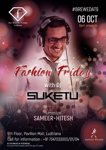 And looking forward to a fun #weekend in #Punjab... #Oct 6th #2017 #FashionFridays in #Ludhiana and #Oct 7th #2017 #SmashingSaturdays in #Chandigarh. #FBar #Dance #Music #PartyTime #TheWeekend