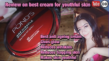 Review on best cream for wrinkles. Glowing skin , sagging skin , sun protection , youthful skin. For men and women. YouTube DIMPLE D'SOUZA to watch the video.