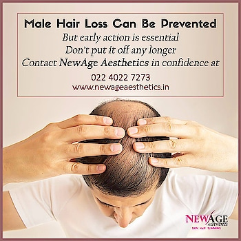 "HAIR GROWTH TREATMENTS FOR HAIR LOSS   Invest in your hair. It is the crown you never take off.   NewAge Aesthetics Hair growth Treatments:  ""Activate 3 Proven Hair Growth Catalysts""  1) Remove DHT & Toxins 2) Increase Blood Flow 3) Deliver Nutrients to Cells 4) Promote hair growth   Hair growth reatments are done with:  1) Platlet rich plasma (PRP) 2) Mesotherapy with Vitamins and plant stem cells 3) Low level laser 4) Homoeopathy treatment 4) Nutrition  Contact:  NewAge Aesthetics  Call: 02240227273/9867304013 Skin, Hair, Laser, Cosmetic Clinic,  Andheri, Mumbai. www.newageaesthetics.in  #hairloss #hairlosstreatment #prptreatment #prphairloss #plateletrichplasma #mesotherapy #hairfall solution #homoeopathicmedicine #hairgrowthtips #malepatternbaldbness"