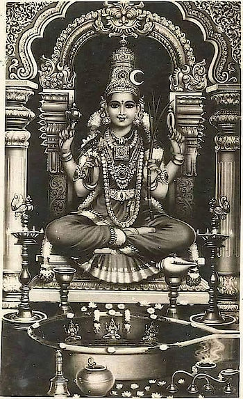 PARVATHI'S PENANCE AT KANCHI  SANAKA addressed Brahma thus: O Bhagavan! Having obtained the grace of Siva through you, it has been possible for me to hear with joy the glory of Arunachala. I now understand that the beginningless and endless Siva himself stands as the Aruna Hill in order to grant the devotee the fruits of his penance, that the Hill destroys all sins and that one obtains Liberation by merely uttering 'Arunachala' once. All desires are fulfilled when one stands before it. All tendencies (vasanas) are destroyed. The very name 'Siva' is nectar. Repeating the name is itself worship of Siva. Pray, tell me, who else worshiped Arunachala, the bestower of boons? On hearing this, Brahma, the Lord of the celestial beings, mentally prayed to the Lord of Arunachala, the embodiment of compassion, and resumed his narrative:  Child! I shall now narrate how in days of yore, the Universal Mother, Goddess Parvati sought and won the left-half of Her Lord, Arunachala. Once on Mount Kailas, it was spring time and the place was filled with the balm, incense and scent of beautiful flowers. Bees swarmed and hummed among the hanging clusters of flowers. Peacocks spread out their colourful feathers dancing to the tune of humming bees. Elephants and lions, natural enemies, strolled about in harmony and contentment. Sages chanted hymns from the Rig, the Yajus and the Sama Vedas, the last mentioned being most dear to Siva. Brahmarishis and Rajarishis were deeply absorbed in the Self, while devas, siddhas, ganas, the protectors of the quarters and holy devotees of Siva wearing sacred ash and rudraksha beads stood in prayerful attitude. Hosts of Apsaras (celestial damsels) sang and danced to the accompaniment of the sweet-sounding veena (a stringed musical instrument), the venu (the flute), the mridangam (a small drum) and other musical instruments. Lord Siva and Parvati, the Universal Parents, sat on their throne in all their glory, pouring their Grace on their children who were w