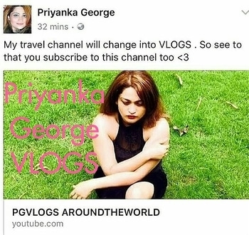 Guys SUBSCRIBE  |  FOLLOW |  YOUTUBE CHANNEL  -  PRIYANKA GEORGE VLOGS   LINK  - https://m.youtube.com/channel/UCK1cm3_gbXj5LrS9gJBEdmQ/videos   She is an AMAZING  Youtuber.  She is so Pretty , Beautiful , Honest , Talented  that u would love watching her vlogs.  So Guys check Priyanka's channel -  PRIYANKA GEORGE  VLOGS . Show some love by subscribing n following her channel.     GUYS SUBSCRIBE | FOLLOW |  YOUTUBE CHANNEL - PRINCESS PRIYANKA   For  AMAZING DIYS , WEIGHT LOSS RECIPES ,  HEALTHY MAGICAL DRINKS , TRAVEL VLOGS & REVIEWS OF PRODUCTS  Subscribe | Follow |  YOUTUBE - www.youtube.com/PrincessPriyankaLovesFOODandMAC Twitter - @Cuckoo1985  Instagram - @mumbaiootyyoutuber  Roposo - @princesspriyanka  She is beautiful , honest. One  of the  BEST YOUTUBER. She shares amazing DIYs , weight loss recipes , healthy magical drinks .  SOCIAL HANDLES  Instagram - @mumbaiootyyoutuber Youtube - www.youtube.com/PrincessPriyankaLovesFOODandMAC   Instagram- mumbaiootyyoutuber  Twitter-  @cuckoo1985 Snapchat( recent ) - cuckoo2603 Roposo ( recent ) - @pgvlogs  Facebook - www.facebook.com/Preciouskin Facebook - www.facebook.com/PriyankaGeorge2014  Food Group - Live To Eat  Makeup Group - Indian Makeup Lovers Website - www.preciouskin.com Mail - pgeorge2603@gmail.com  #PRIYANKAGEORGE  #awesome #amazing #followme #follow #Subscribe #like #share #best #amazing #smile #follow4follow #like4like #look #instalike  #picoftheday #instadaily#diy #roposo #roposolove #instafollow #followme #girl  #instagood  #instacool #instago  #follow  #colorful #style #mumbaiootyyoutuber