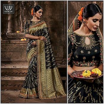 Buy Now @ https://bit.ly/3ebBFBr . Delightful Black Color Banarasi Silk Saree . Fabric - Banarashi, Silk . Product No 👉 VJV-BFIN277 . #saree #sarees #designersaree #weddingsaree #bridalsaree #silksaree #banarasisarees #netsaree #ethnicsaree #partywearsaree #embrioderysaree #weddingwearsaree #sareeforreception #printedsaree #floralprintedsaree #borderworksaree #casualsaree #halfandhalfsaree #bridalwearsaree #lehengastylesaree #traditionalsaree #cottonsaree #latestsarees
