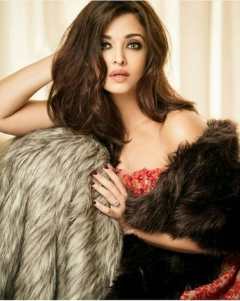 Aishwarya Rai Bachchan on Femina India. Wearing this Faux Fur Wrap and jacket designed by Dhruv Kapoor Ring by the diamond jewellery Gown by- Ghassan Antonio's Makeup by-Daniel Bauer Hairstyle by- Marianna Mukuchyan Styled by-Aastha Sharma Assisted by Reann Moradian Photographed by Abhay Singh