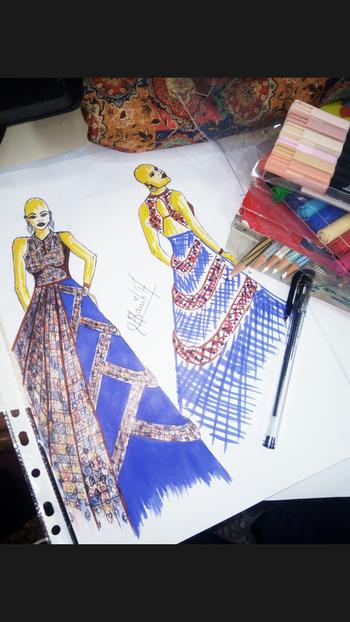 #ffdesignerhunt #illustration #illustrator #designer #student #sketch #sketchbooks  #internship #fashion #designer #kurtadress