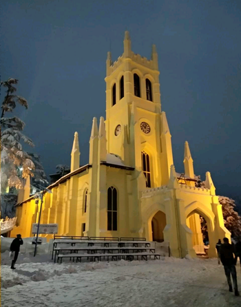 #after  #snowfall #shimla #church #awsome nature