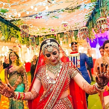#wedding-bride #lehengacholi #bright #hotness #sexydress #trendingnow  #roposo-style #rangoli #celebrations #fashionquotient